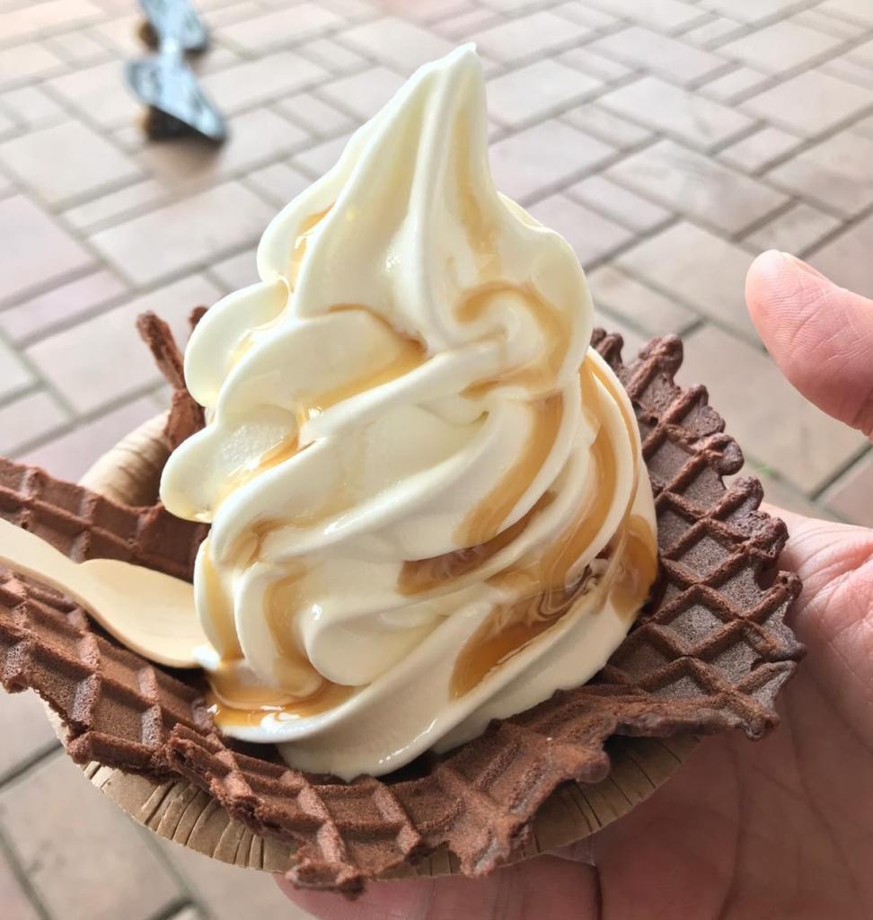 山本牛乳店のソフトクリーム1
